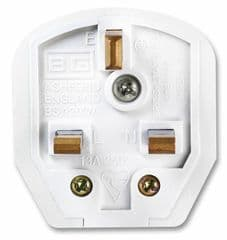 MASTERPLUG 7W  Mains Plug 13A White Heavy Duty